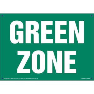 Green Zone Sign