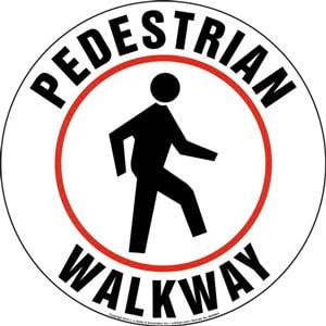 Pedestrian Walkway Floor Sign