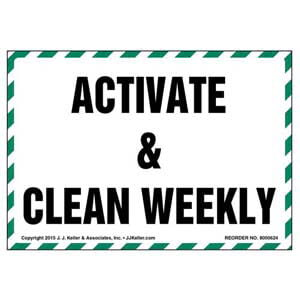Activate & Clean Weekly Label