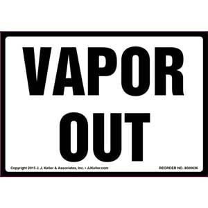 Vapor Out Label