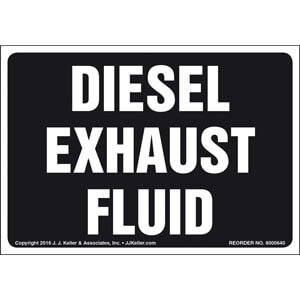 Diesel Exhaust Fluid Label