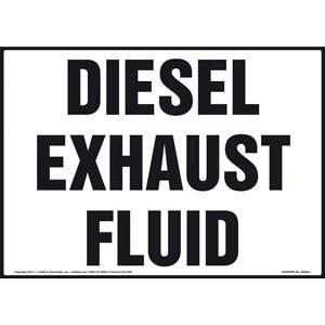 Diesel Exhaust Fluid Sign