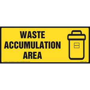 Waste Accumulation Area Sign With Graphic