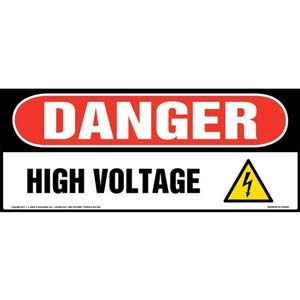 Danger High Voltage - OSHA Sign