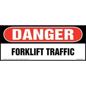 Danger: Forklift Traffic Sign - OSHA, Long Format