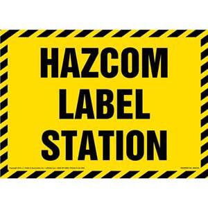 Hazcom Label Station Sign