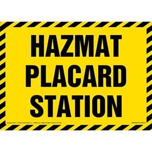 Hazmat Placard Station Sign