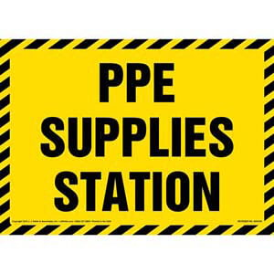 PPE Supplies Station Sign