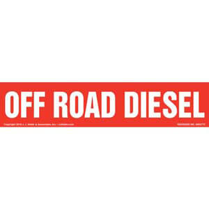 Off Road Diesel Label - Red