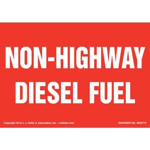 Non-Highway Diesel Fuel Label - Red