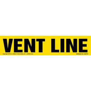Vent Line Label - Yellow