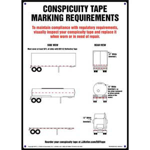 Conspicuity Tape Marking Requirements Sign