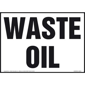 Waste Oil - Sign