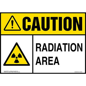 Caution: Radiation Sign - ANSI