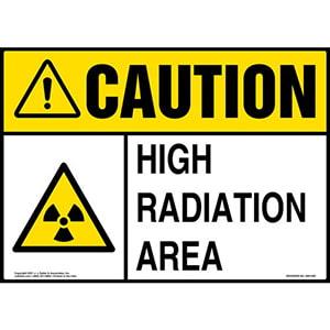 Caution: High Radiation Area Sign - ANSI