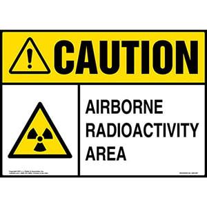 Caution: Airborne Radioactivity Area Sign - ANSI