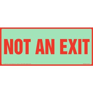 Not An Exit Sign - Long Format, Glow In The Dark Background