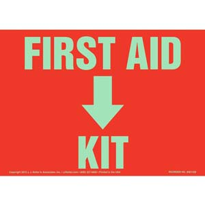 First Aid Kit Sign - Glow In The Dark
