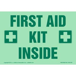 First Aid Kit Inside Label - Glow In The Dark