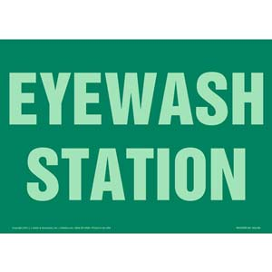 Eyewash Station Sign - Glow In The Dark