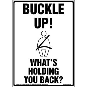 Buckle Up! What's Holding You Back? Sign