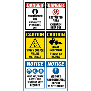Site Board™ Construction Sign - OSHA