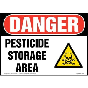 Danger: Pesticide Storage Area Sign with Icon - OSHA