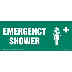 Emergency Shower Sign with Icon