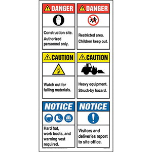 ANSI Site Board™ / Construction Sign - English