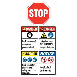 ANSI Site Board™ / Oil & Gas Sign - English
