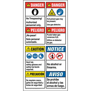 ANSI Site Board™ / Oil & Gas Sign - Spanish