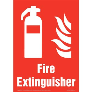 Fire Extinguisher Sign with Icon - Portrait