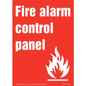 Fire Alarm Control Panel Sign with Icon - Portrait