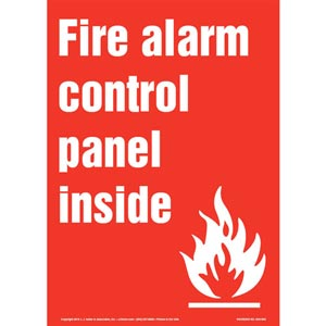 Fire Alarm Control Panel Inside Sign with Icon - Portrait