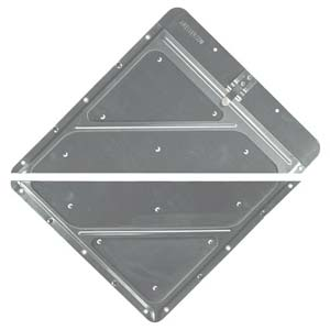 Riveted Split Aluminum Placard Holder w/Back Plate