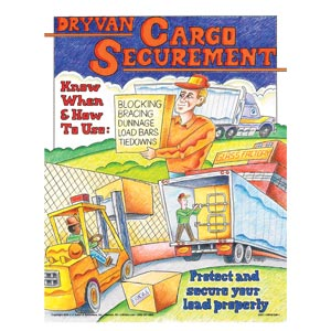 Dry Van Cargo Securement Training Program - Know How & When to Use Securement Poster