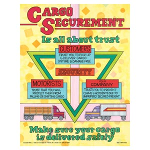 Dry Van Cargo Securement Training Program, Second Edition - Cargo Securement is All About Trust Poster