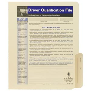 Driver Qualification File Packet - File Folder