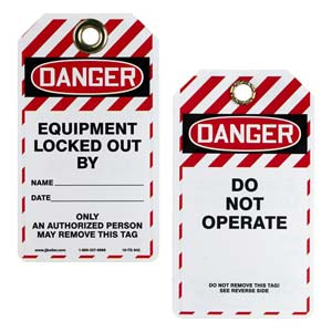 Double-Sided Lockout/Tagout Tag - Danger Do Not Operate