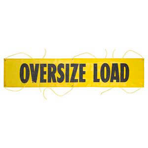 Mesh Oversize Load Banner w/ Grommets for Ropes
