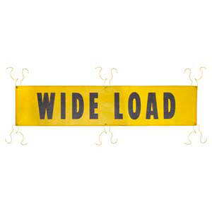 Mesh Wide Load Banner w/ Grommets for Ropes