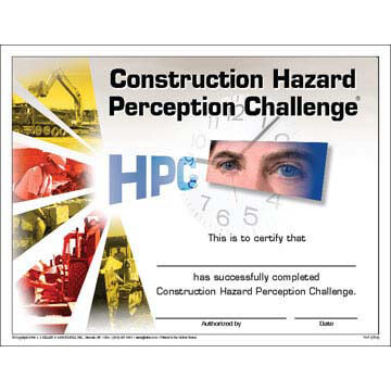 Construction Hazard Perception Challenge® - Certificate of Completion
