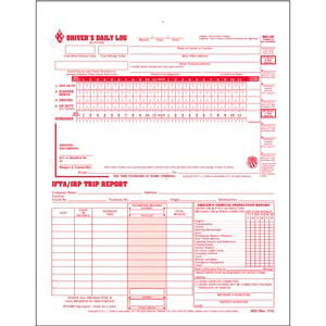 3-In-1 Driver's Daily Log, 2-Ply, Carbonless, Loose-Leaf Format - Stock