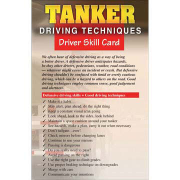 Tanker Driving Techniques - Driver Skills Cards