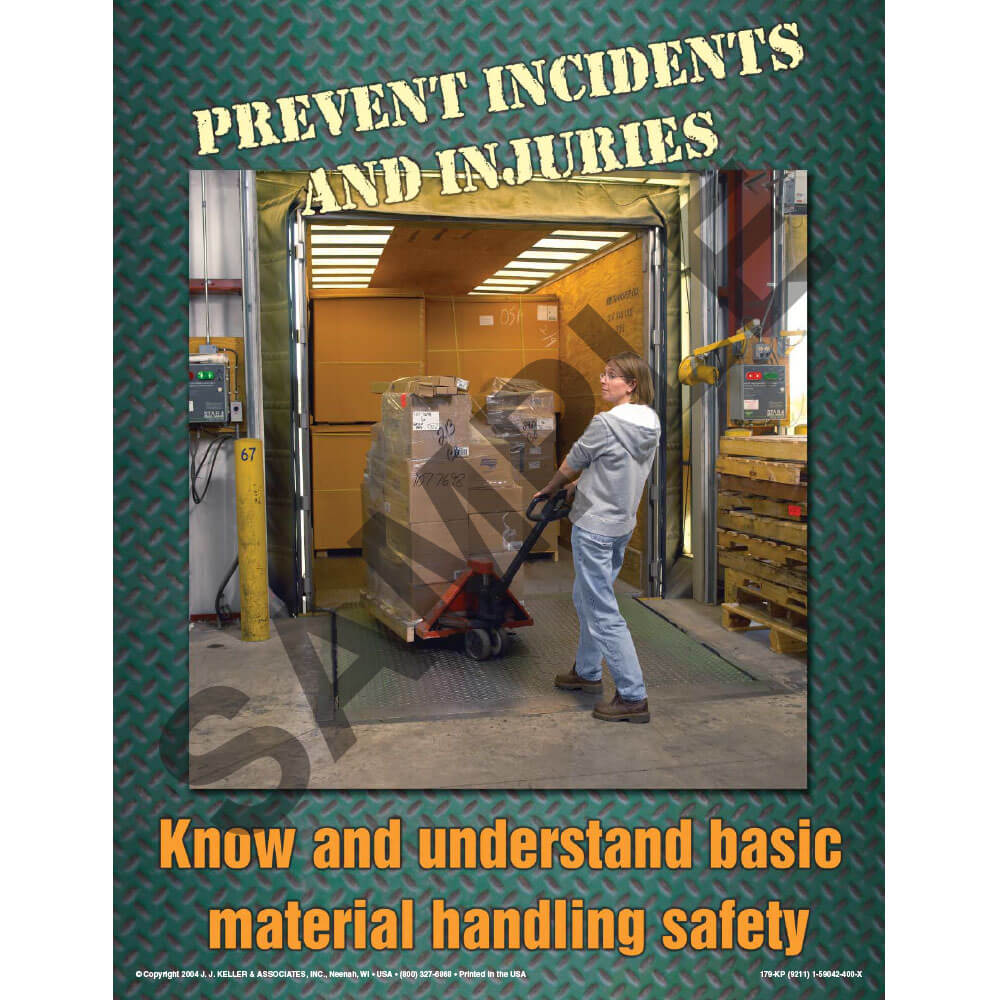 The Ups and Downs of Material Handling Equipment Safety Training Program - Awareness Poster