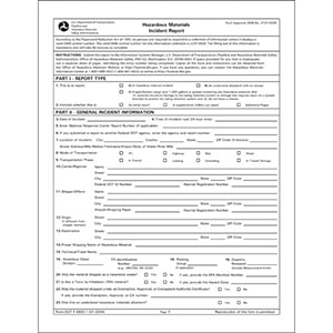 Accident And Incident Forms For Driver Crash Reporting
