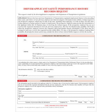 Driver/Applicant Records Request