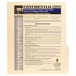 Confidential All-In-One Driver Qualification File Folder - For Two-Copy Forms