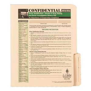 Confidential All-In-One Driver Qualification File Folder - For Single-Copy Forms