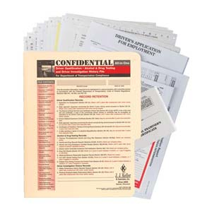 Confidential All-In-One Driver Qualification Packet (Snap-Out)